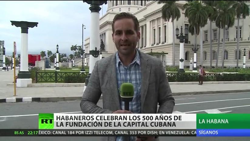 Habaneros celebran los 500 años de la fundación de la capital cubana