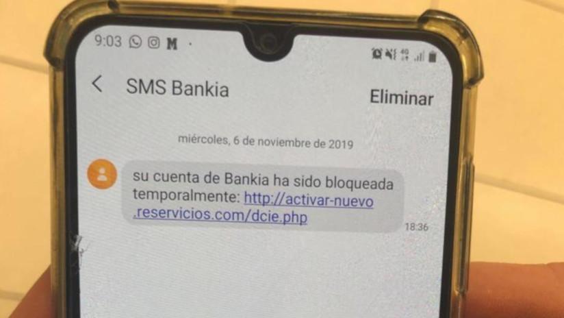 """¿Un 'SMS de Bankia' le ofrece reactivar su """"cuenta bloqueada""""? ¡No lo abra!"""