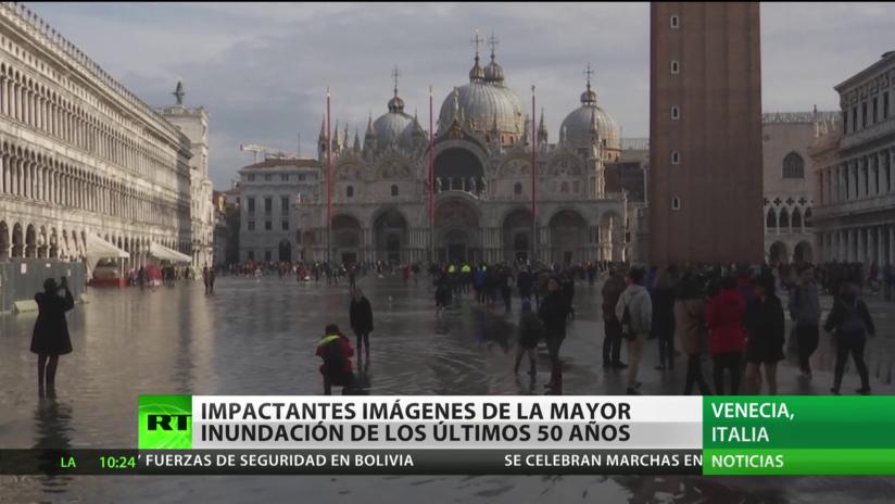 Venecia: Impactantes imágenes de la mayor inundación de los últimos 50 años