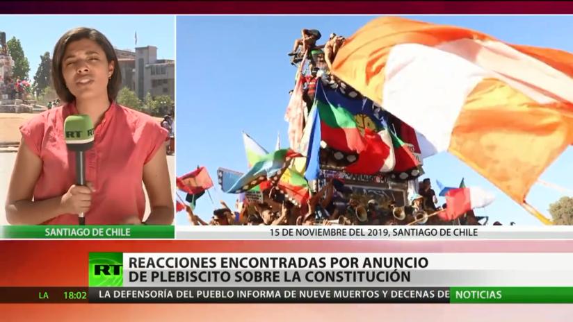 Chile: Reacciones encontradas por el anuncio de plebiscito sobre la nueva Constitución