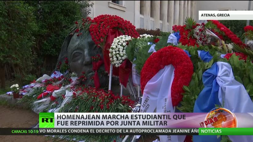 Atenas recuerda a las víctimas de la marcha estudiantil reprimida en 1973 por la junta militar