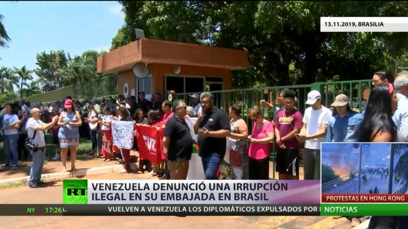 Venezuela denunció una irrupción ilegal en su embajada en Brasil