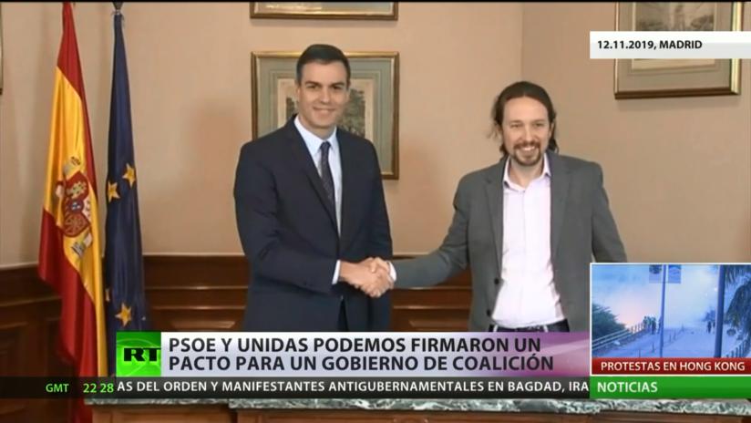 España: El PSOE y Unidas Podemos firmaron un pacto para un Gobierno de coalición