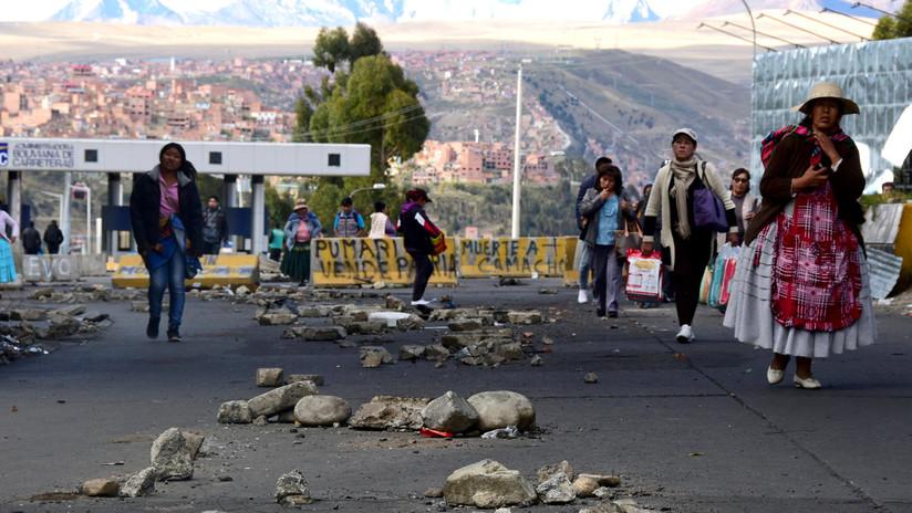La otra cara de las protestas en Bolivia: escasez de combustibles y alimentos en La Paz