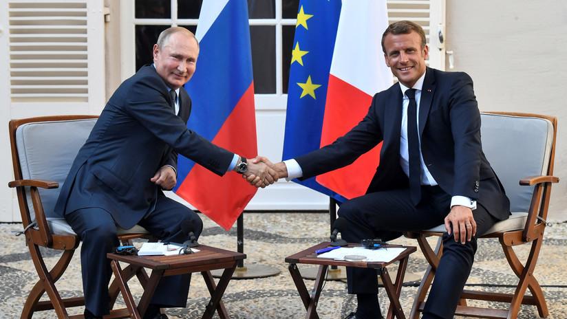 Macron y Putin abordan el conflicto ucraniano y la coordinación en Siria