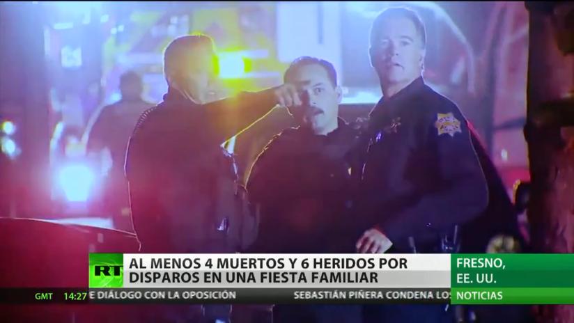 Mueren 4 personas y 6 resultan heridas en un tiroteo en una casa en California