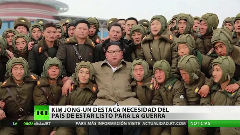 Kim Jong-un pide a sus militares estar listos para la guerra