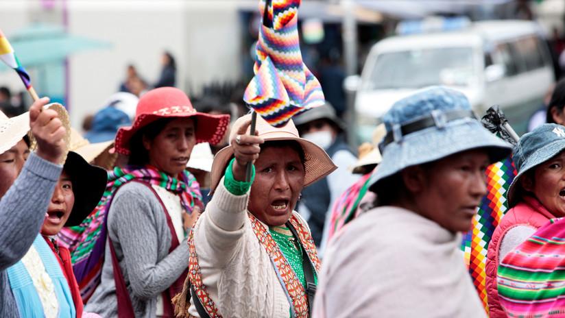 """""""Queremos que renuncie Áñez, que no haya más muertos"""": nuevas movilizaciones en La Paz en rechazo al Gobierno de facto"""