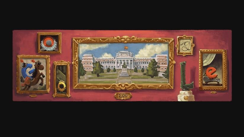 Google celebra el 200.º aniversario del Museo del Prado con un 'doodle'