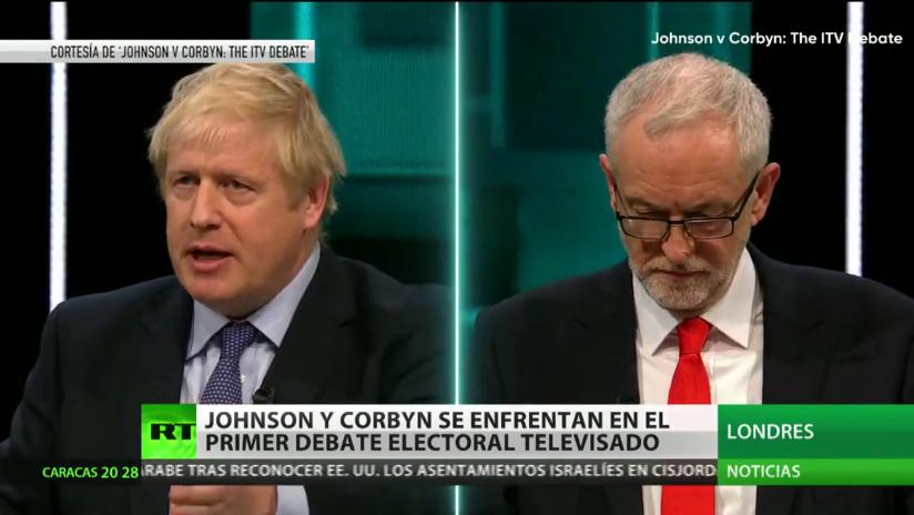 Johnson y Corbyn se enfrentan en el primer debate electoral televisado