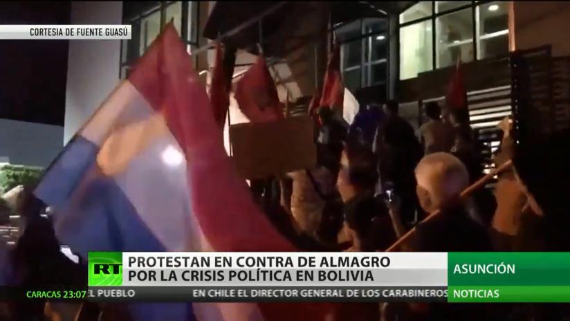 Protestas en Paraguay en contra de Almagro por la crisis política en Bolivia