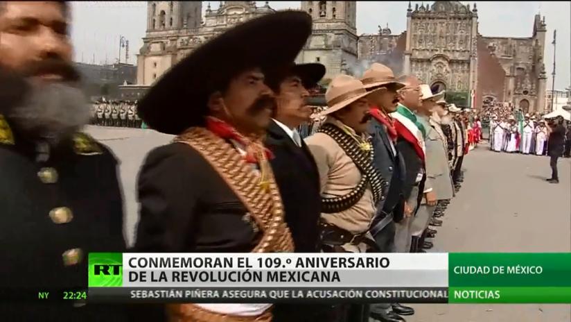 México conmemora el 109 aniversario de su Revolución