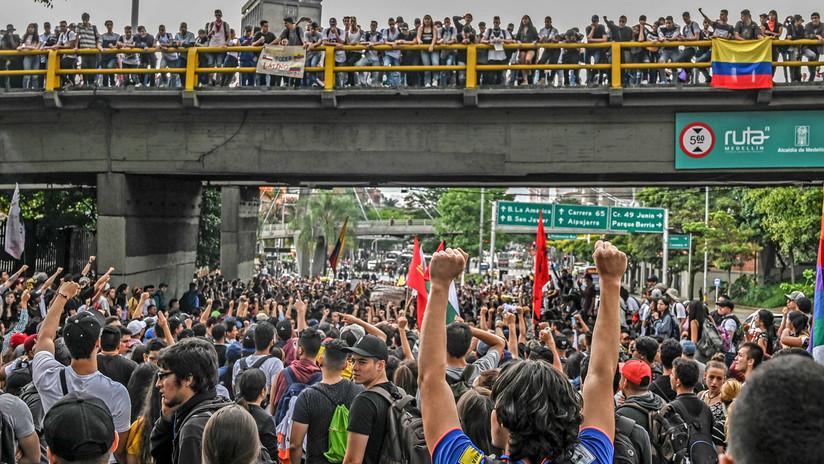 Paro nacional en Colombia en medio de censura a medios, allanamientos y militarización de calles