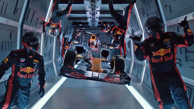 VIDEO: Mecánicos de Red Bull realizan el primer cambio de neumáticos de un Fórmula 1 en gravedad cero