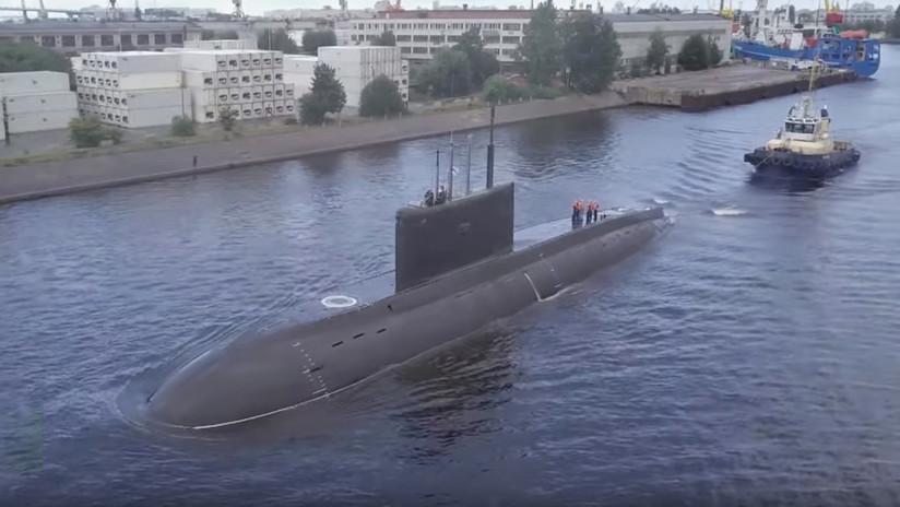 VIDEO: Realizan pruebas de navegación de un nuevo submarino ruso capaz de lanzar misiles de crucero tipo Kalibr en inmersión