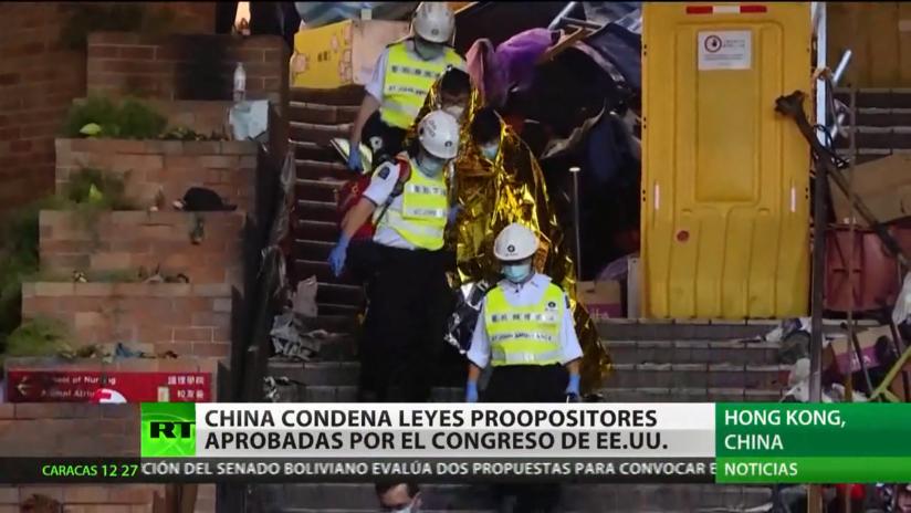 China condena leyes proopositores aprobadas por el Congreso de EE.UU.