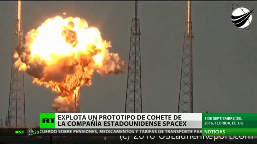 Explota un prototipo de cohete de la empresa estadounidense SpaceX