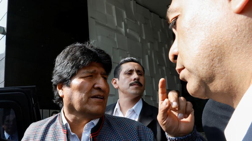 """Gobierno de facto de Bolivia acusa a México de violar política de asilo por un supuesto video de Morales que """"incita a la violencia"""""""
