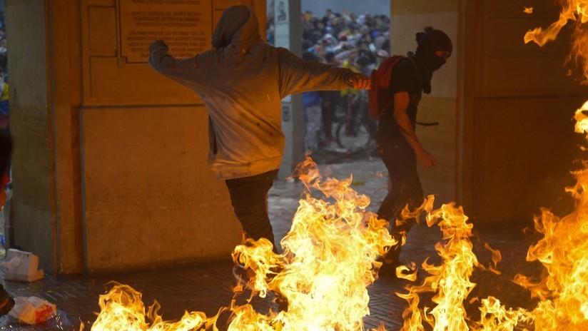 """Duque condena """"el vandalismo puro"""" durante la jornada del paro nacional, que no representa """"el espíritu de los marchantes colombianos"""""""