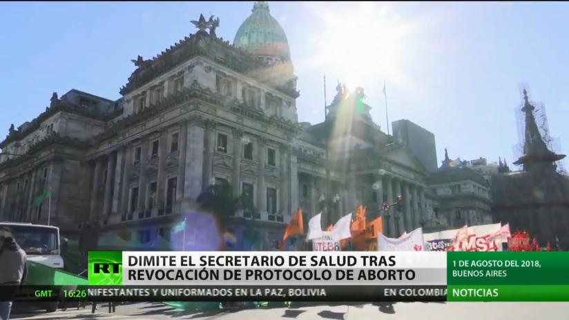Dimite el secretario de Salud de Argentina tras la revocación del protocolo de aborto
