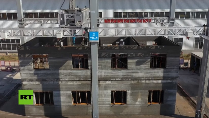 Construyen en China uno de los mayores edificios por impresión en 3D (VIDEO)