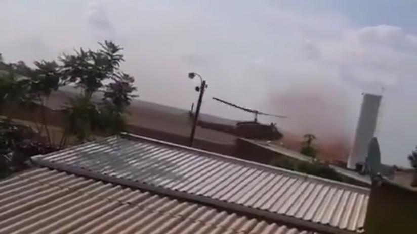 VIDEO: Momento de la caída del helicóptero militar en Paraguay que participaba en un operativo antidrogas