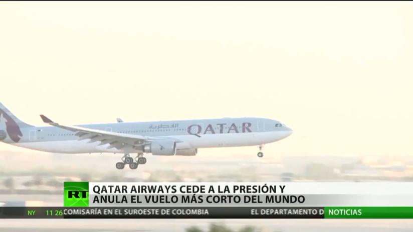 Qatar Airways cede a la presión y anula el vuelo más corto del mundo