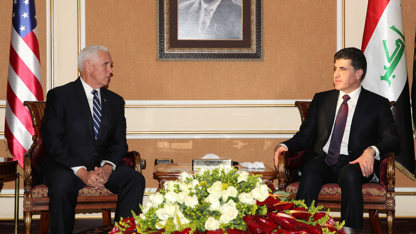 """Mike Pence visita por sopresa Irak para reafirmar """"los fuertes lazos forjados en los fuegos de guerra entre EE.UU. y los kurdos"""""""