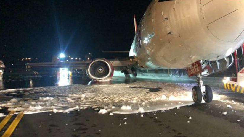 VIDEO, FOTOS: Se rompe el tren de aterrizaje de un Boeing procedente de Venezuela al tocar tierra en Bogotá