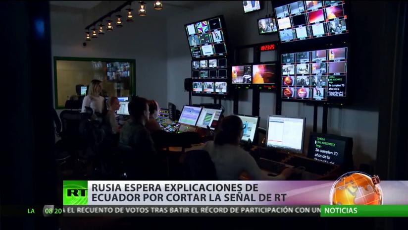 Rusia espera explicaciones de Ecuador por cortar la señal de RT