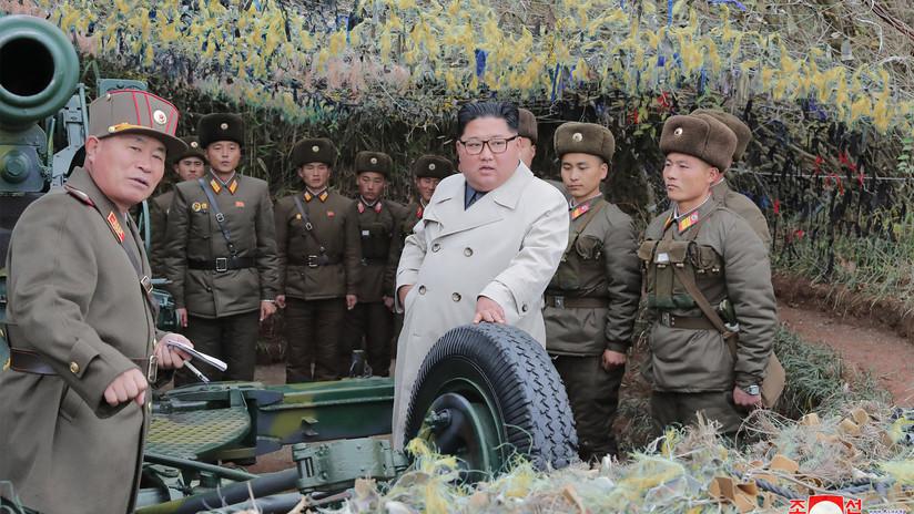 Corea del Sur rechaza los ejercicios de fuego de artillería realizados por Pionyang en una zona fronteriza bajo supervisión personal de Kim