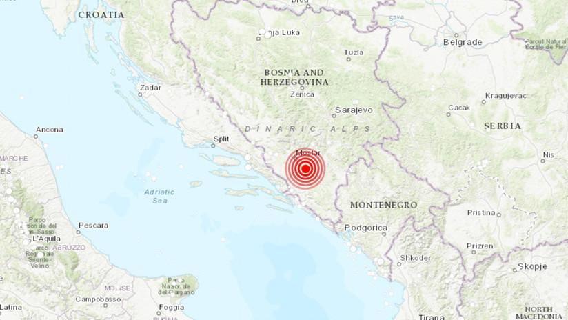 Un sismo de magnitud 5,4 sacude Bosnia y Herzegovina