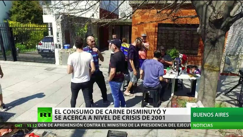 El consumo de carne en Argentina disminuye debido a la situación económica