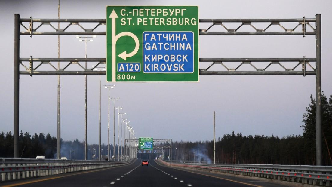 Rápida, segura y con 5G: Putin inaugura una nueva autopista entre Moscú y San Petersburgo
