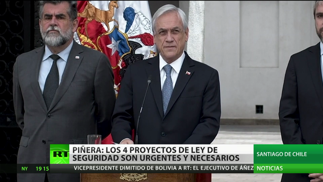 """Piñera pide al Congreso que apruebe 4 proyectos ley """"urgentes y necesarios"""" sobre seguridad en medio de protestas"""