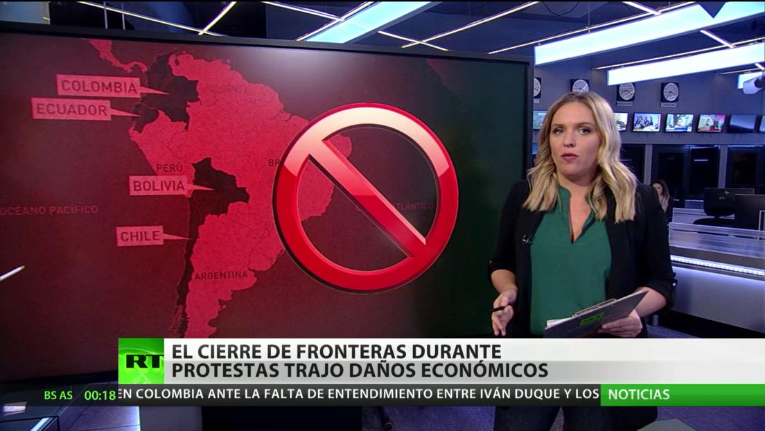 El cierre de fronteras durante protestas repercute en la economía de varios países latinoamericanos