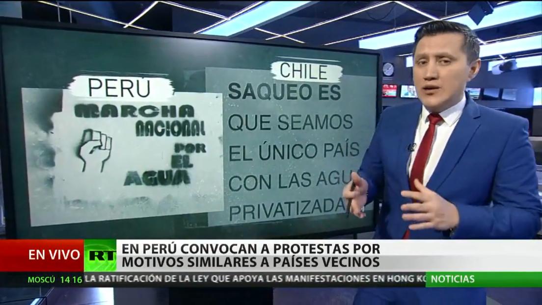 """Protestas en Perú y Chile están motivadas por el """"fantasma"""" del neoliberalismo"""