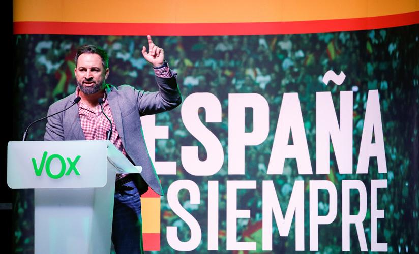 Santiago Abascal, líder y candidato del partido de extrema derecha VOX. Hospitalet de Llobregat (Barcelona), 31 octubre 2019.