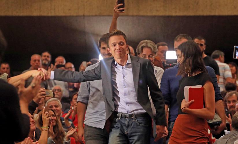 Íñigo Errejón presenta su nuevo partido político Más País. 25 de septiembre de 2019.