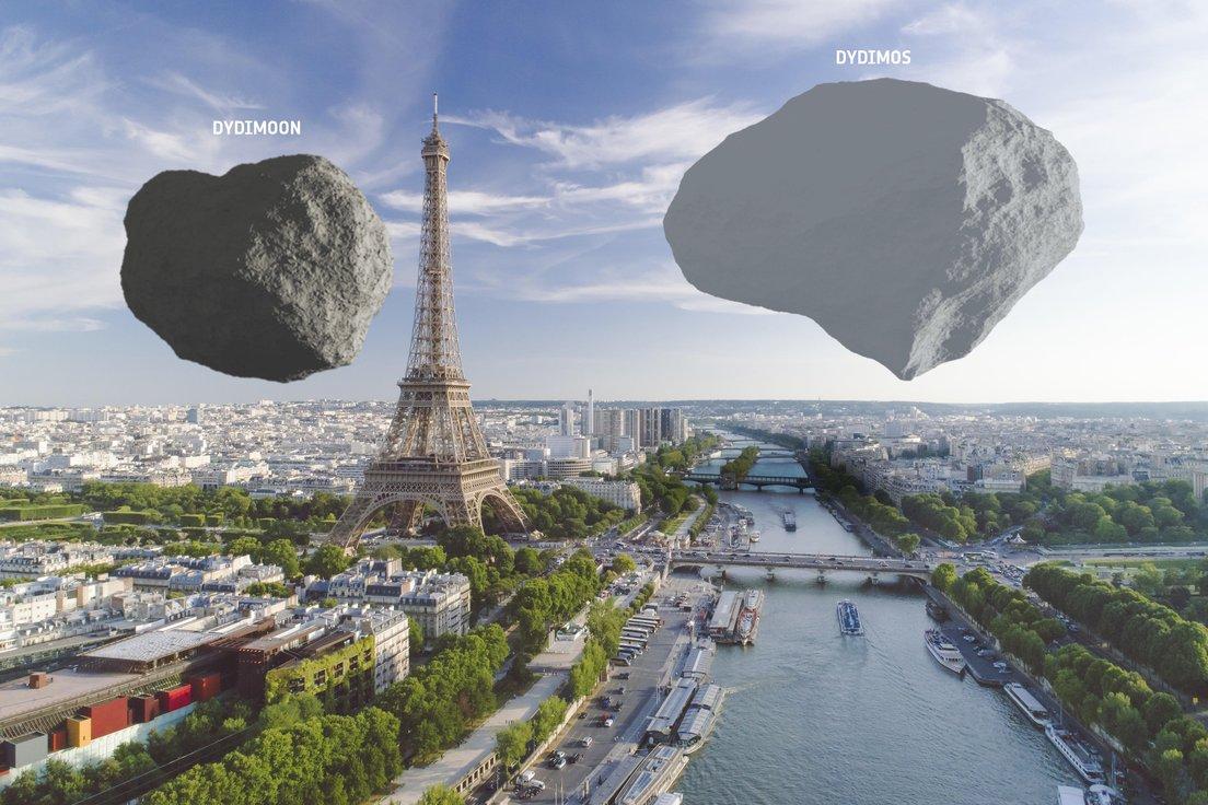 астероиды бинарной системы Дидим в Париже