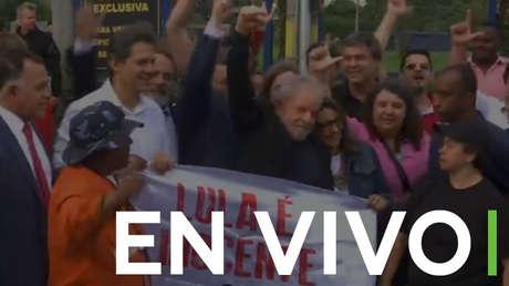 EN VIVO: El expresidente brasileño Lula da Silva sale de prisión