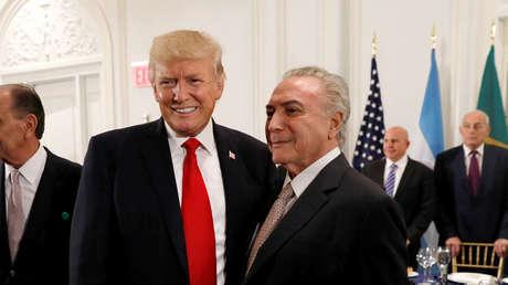 Temer asegura que en una cena Trump le preguntó, junto a los mandatarios de Colombia y Panamá, cómo intervenir a Venezuela
