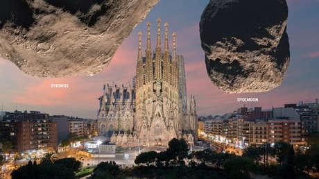 FOTO: L'ESA mostra come apparirebbero due asteroidi su monumenti emblematici se raggiungessero la Terra