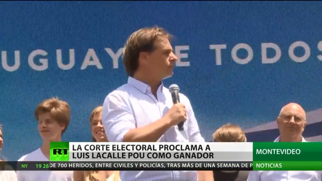 Uruguay: La corte electoral proclama como ganador a Luis Lacalle Pou