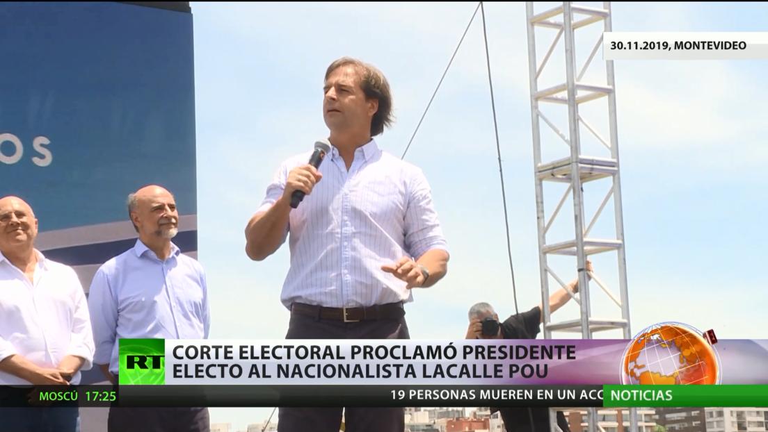 Declaran a Luis Lacalle Pou como presidente electo de Uruguay