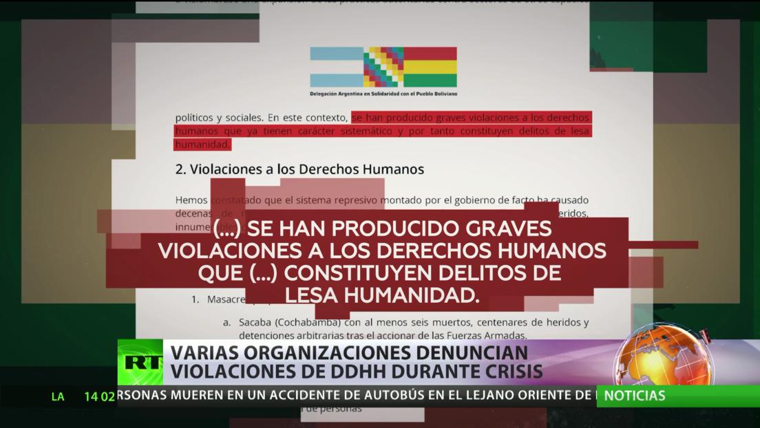 Varias organizaciones denuncian violaciones de DD.HH. durante la crisis política de Bolivia