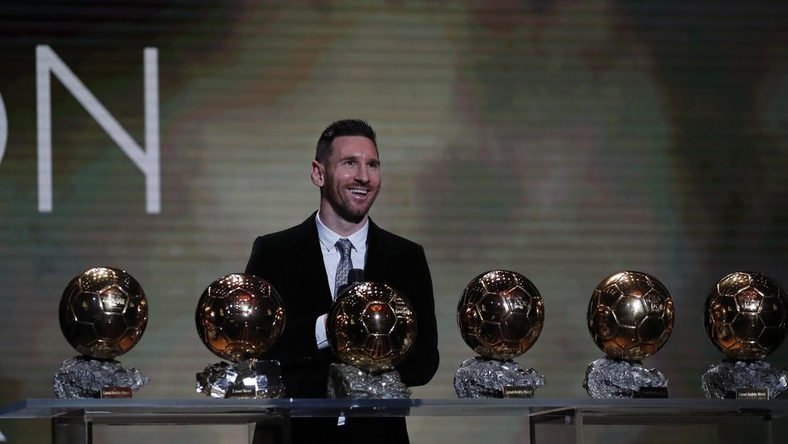 Messi logra un récord al ganar su sexto Balón de Oro