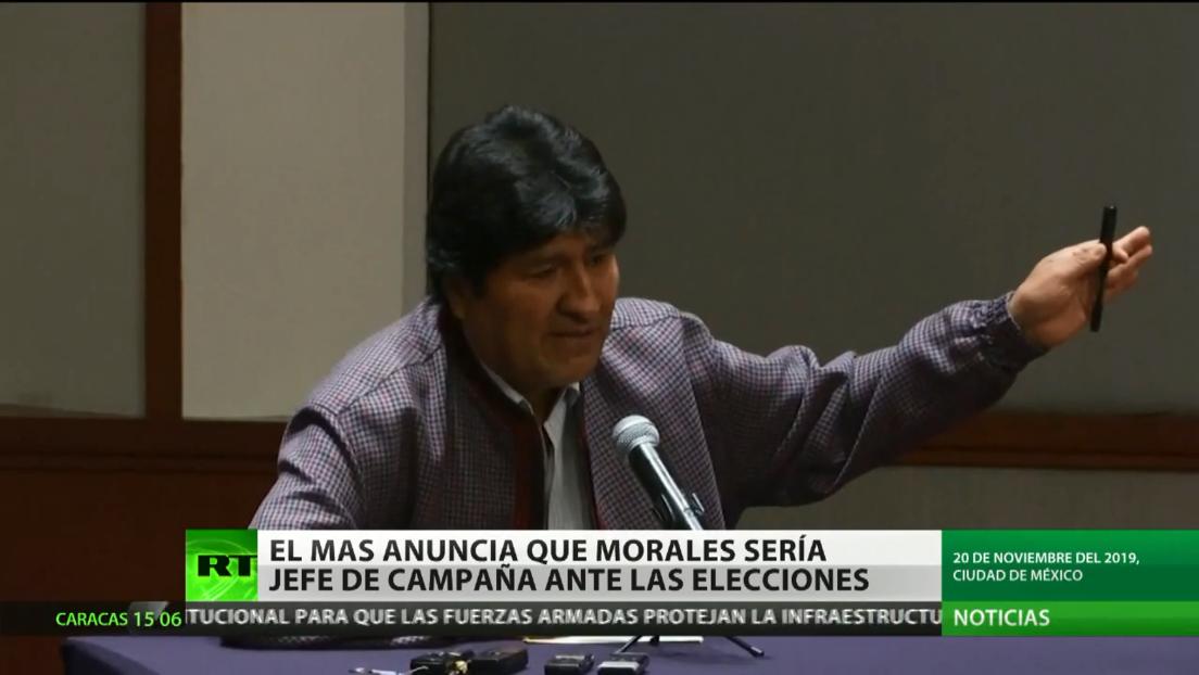 El MAS anuncia que Evo Morales podría dirigir su campaña electoral