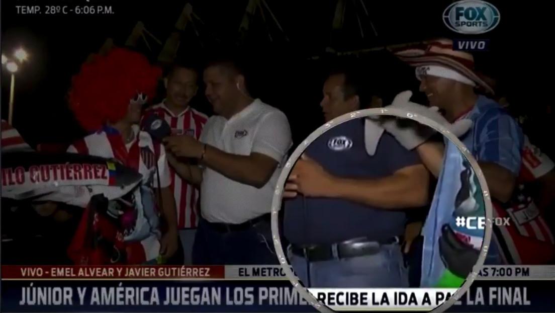 VIDEO: Le roban el teléfono a un periodista durante una transmisión en vivo