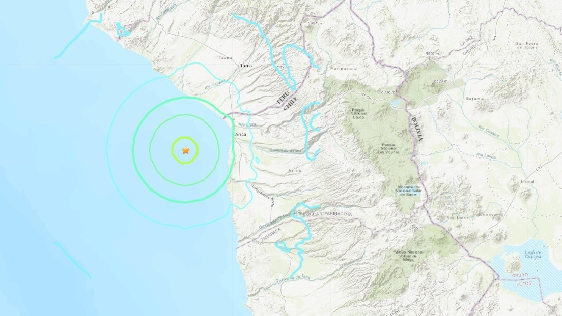 Un terremoto de magnitud 6,0 se registra en Chile